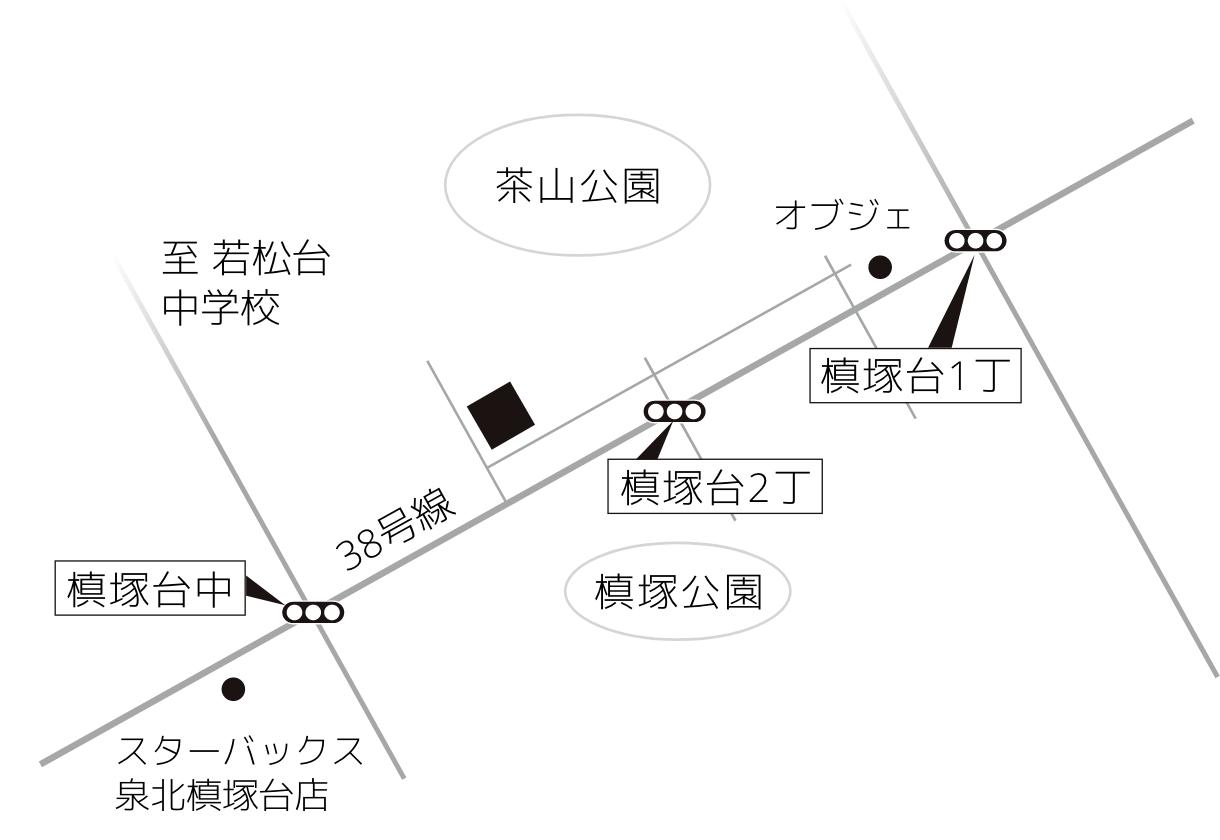 事務所近隣の地図